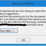 Lỗi không mở được file word