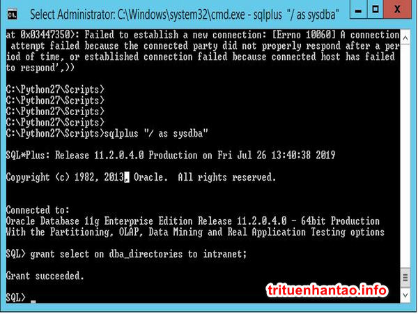 Apex-Oracle: Phân quyền select cho table system