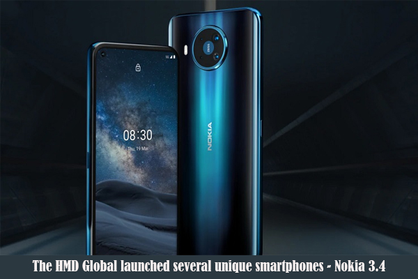 The HMD Global launched several unique smartphones – Nokia 3.4