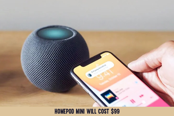 The Siri-controlled HomePod mini will be available for order on November 6