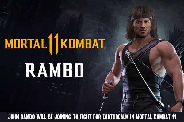 John Rambo will be joining to fight for Earthrealm in Mortal Kombat 11
