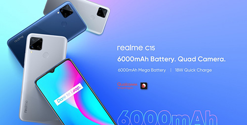 Realme unveiled the Realme C15 Qualcomm Edition with Snapdragon 460