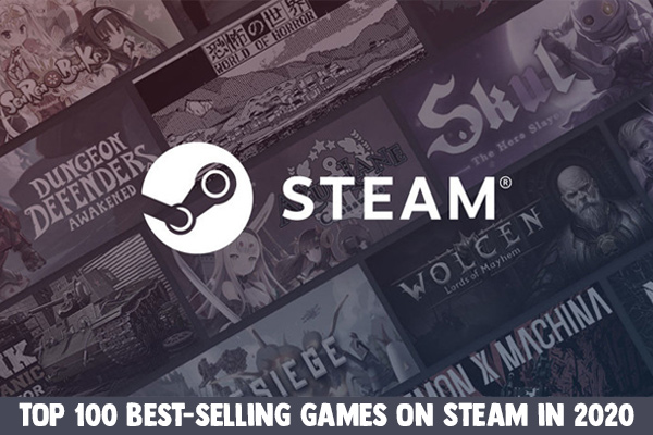 Top 100 best-selling games on Steam in 2020