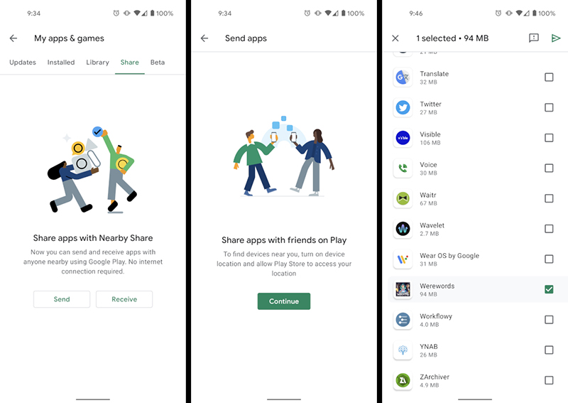 How to enable app sharing in the Google Play Store