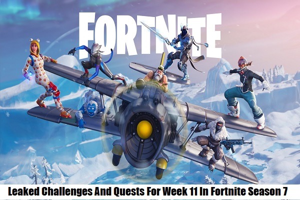 Leaked Challenges And Quests For Week 11 In Fortnite Season 7