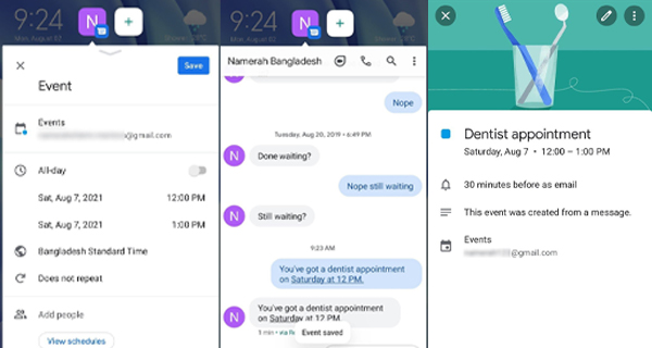 You can now set a reminder directly from an Android notification 3