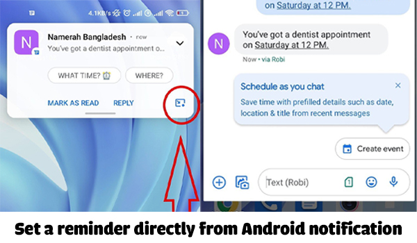 Android Tips: You can now set a reminder directly from an Android notification